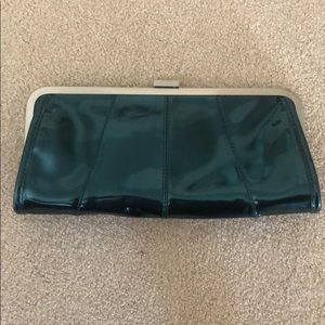 Kenneth Cole Reaction turquoise clutch